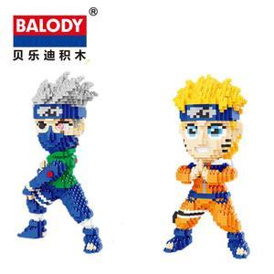 Image 2 - Balody Mini Blocks Naruto Auction Figure Cartoon Model Building Bricks for Children Funny Toys Anime Kakashi Xmas Gift 16093