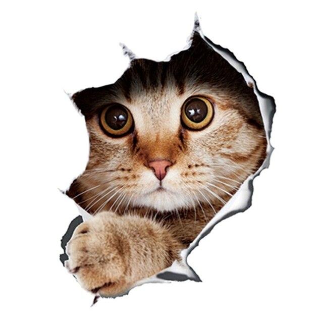 3d стерео аниме забавная творческая личность котенок кошка имитация