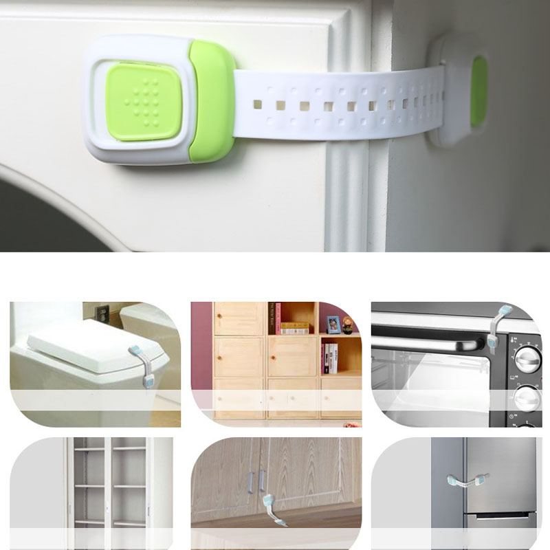 Drawer Door Cabinet Cupboard Toilet Safety Locks Baby Kids Safety Care  Locks  Infant Baby Protection AXP038