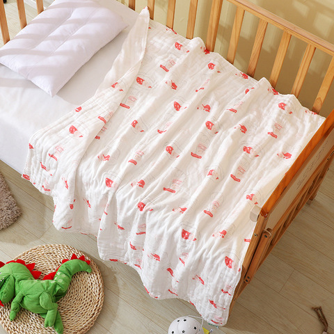 Muslin Swaddle Baby Blankets 100% Cotton Swaddle Wrap for Newborn Babies 6 Layer Bath Towel Blanket Baby Bedding blanket 110*110 Islamabad
