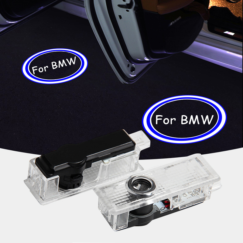 M&C For <font><b>BMW</b></font> 4PCS Car LED Door Welcome Courtesy Light Projector Laser Shadow <font><b>Logo</b></font> Light For <font><b>BMW</b></font> E90 E91 <font><b>E92</b></font> E93 <font><b>M3</b></font> E60 E61 image