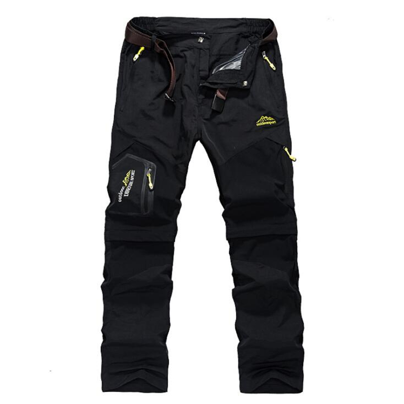 Men Removable Cargo Pants Multi Pockets Pants Military Tactical Pants Trousers Male Waterproof Elastic Breathable Casual Pants