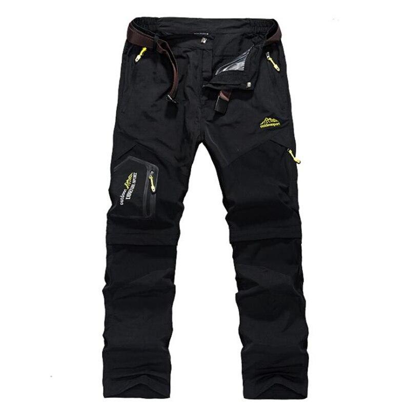 Men Removable Cargo Pants Multi Pockets Pants Military Tactical Pants Trousers Male Waterproof Elastic Breathable Casual Pants