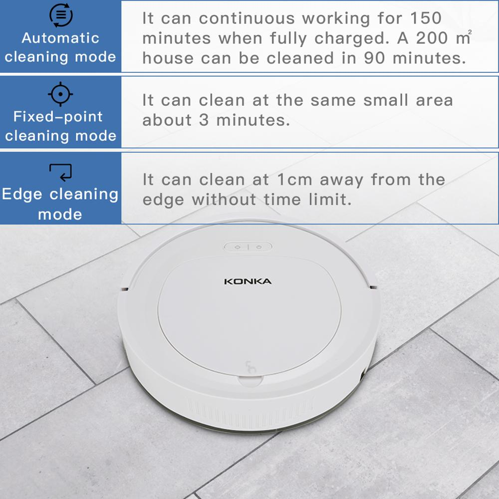IKONKA V88 Automatically Chargeable Robot Vacuum Cleaner For Hard Floors and Carpet 2