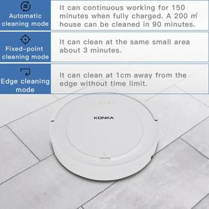 Image 3 - IKONKA V88 Robot Vacuum Cleaner Sweep&Wet Mop Simultaneously For Hard Floors&Carpet Run 150mins before Automatically Charge