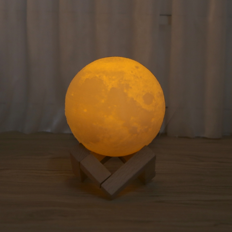 3D Magical LED Luna Night Light Moon Lamp Desk USB Charging Touch Control Home Decor DXAF