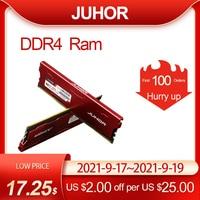 JUHOR pamięci Ram ddr4 16GB 4GB 8GB 32GB pamięć stacjonarna Udimm 2133MHz 2400MHz 2666MHz 3000MHz nowy Dimm baranów z radiatorem