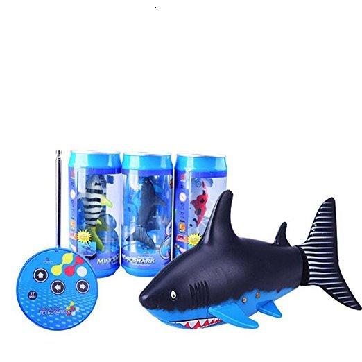Novo mini rc tubarão controle remoto animais