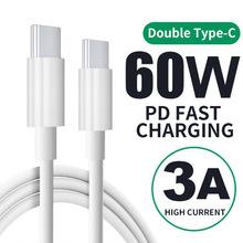 Rodzaj USB C przewody do ładowania szybkie ładowanie 2 w 1 transmisji podwójne 60w szybkie linii ładowania tanie tanio USB 3 1 typu C Inteligentne urządzenia CN (pochodzenie) Pakiet 1