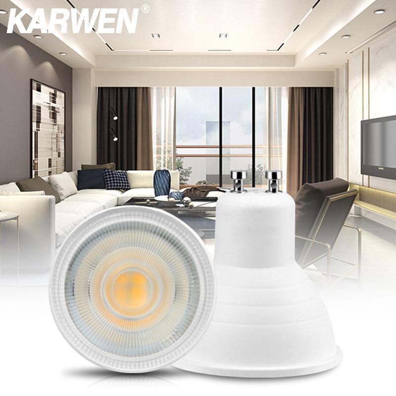 KARWEN Lampada LED Lamp Bulb GU10 MR16 6W LED Spotlight E27 E14 220V LED Downlight 48 60 80L Lampara LED Light Bulb For Bedroom