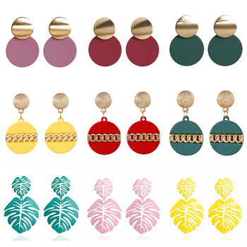 2020 New Fashion Stud Earrings For Women Golden Color Round Ball Geometric Earrings For Party Wedding Gift Wholesale Ear Jewelry 2
