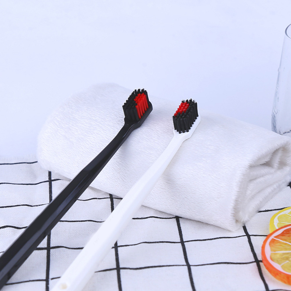 2 Pcs Couple Heart Shape Toothbrushes Ultra Soft Oral Care Cleaning Toothbrush Family Toothbrush Set