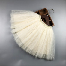 Girls' New Polka-Dot Puffy Skirt Children'S Daily Wedding Banquet Clothes For Various Occasions Wild Mesh Clothing