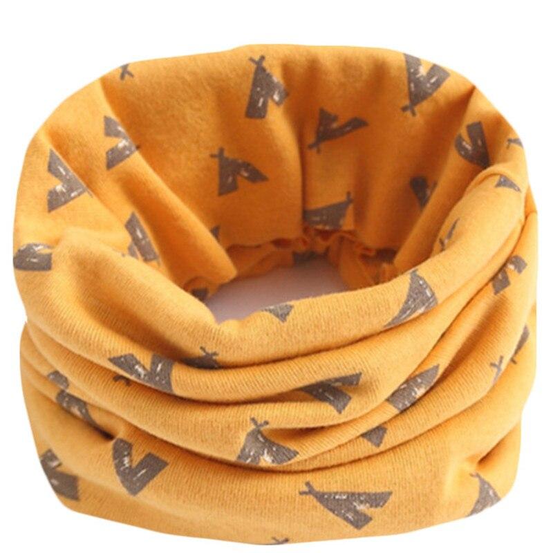 Весенне-осенне-зимний детский хлопковый шарф для От 0 до 10 лет, Детские шарфы с героями мультфильмов, модный теплый воротник - Цвет: 28