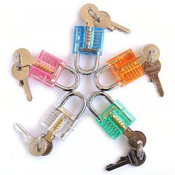 1pc Transparent Locks Pick Visible Cutaway Mini Practice View Padlock Hasps Training Skill For Locksmith Furniture Hardware