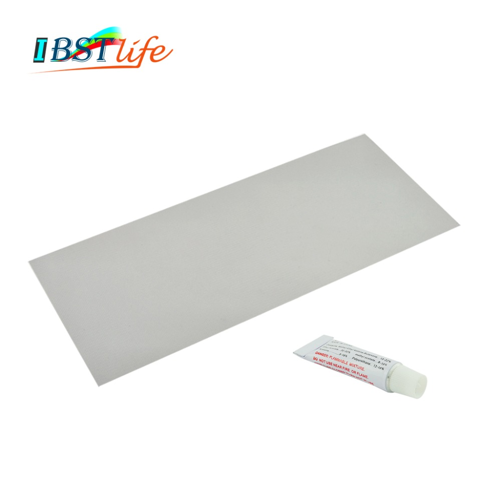 370*150mm Inflatable Boat Kayak Special Gray PVC Repair Patch Kit With Glue Waterproof Patch Rib Canoe Dinghy Float