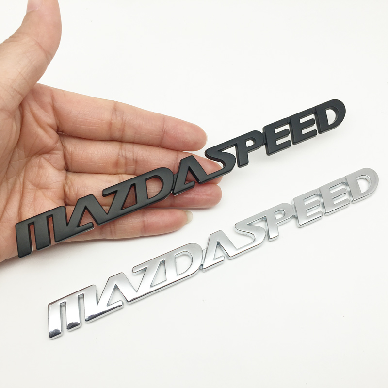 1Pcs 3D Metal MAZDASPEED Car Side Fender Rear Trunk Emblem Badge Decals For Mazda 2 3 6 CX-4 CX-5 CX7 Atenza Axela Car Styling