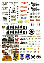 42*30cm RC car shell body sticker Simulation personalized decorative decals for 1/10 1/8 Buggy Monster drift Crawler