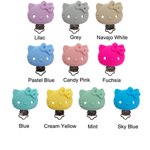 Image 5 - Chengkai 10pcs Silicone Mickey Teether Clips DIY Baby Cat Mouse Animal Pacifier Dummy Soother Nursing Jewelry Toy Accessories