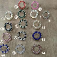 Dobrej jakości metalowe guziki perłowe guziki z kryształu górskiego 10 sztuk dużo mają ten sam styl wisiorek na zamek błyskawiczny 10 sztuk w opakowaniu tanie tanio Guzik do jeansów CN (pochodzenie) Przyciski