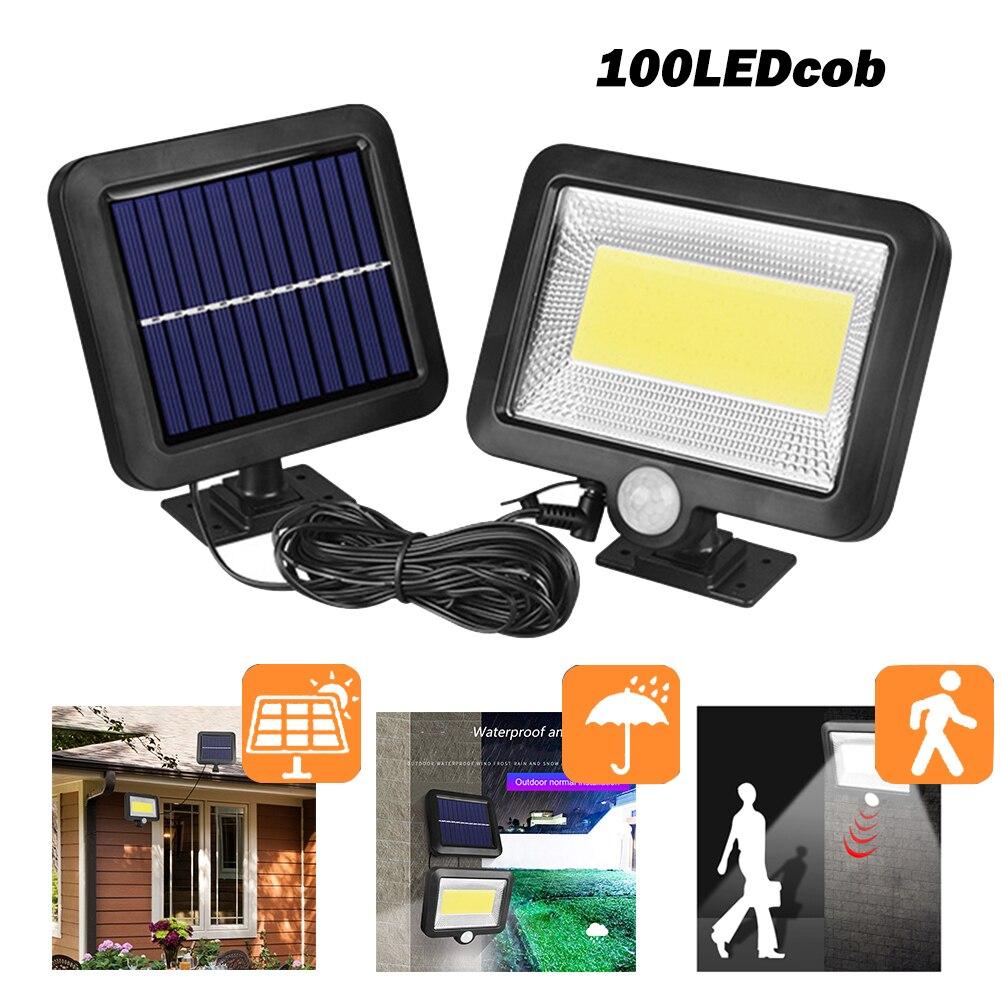 New COB 100LED Solar Lamp Motion Sensor Waterproof Outdoor Path Night Lighting Support Outdoor Night Lighting Dropshipping