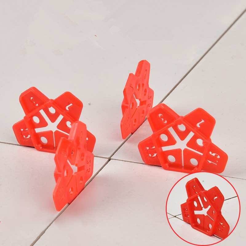 50pcs 1-3mm Wall Tiles Ceramic Gap Locator Can Reuse Cross Tile Leveling System Gap Manual Grout Pump Floor Construction Tools