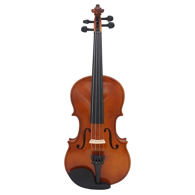 AV-105 plein bois populaire violon brun naturel 4/4 modèle débutant pratique violon 59*21*3.9 cm