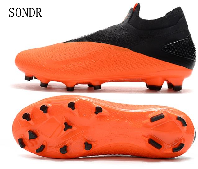 New Arrival Soccer Shoes Men Football Boots Shoes Futsal Soccer Cleats Ankle High Tops Outdoor Training Popular Sneakers