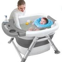 Baby Folding Bath Tub Baby Swim Tubs Bath Body Washing Portable Fold able Children Eco friendly Non Slip Safe Kid Bathtub