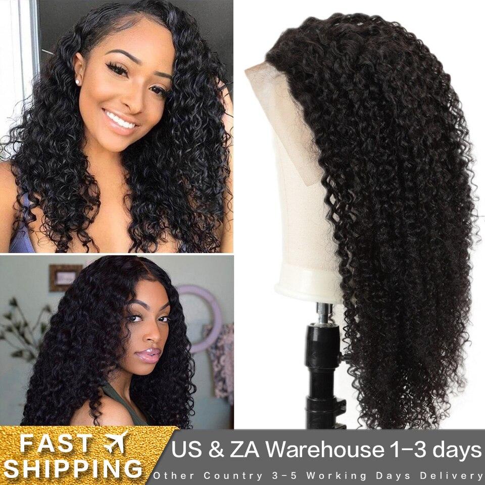 Joedir 250 Density Lace Wig Density Curly 13x4 Lace Front Human Hair Wigs Pre Plucked Brazilian Kinky Curly Lace Human Hair Wigs