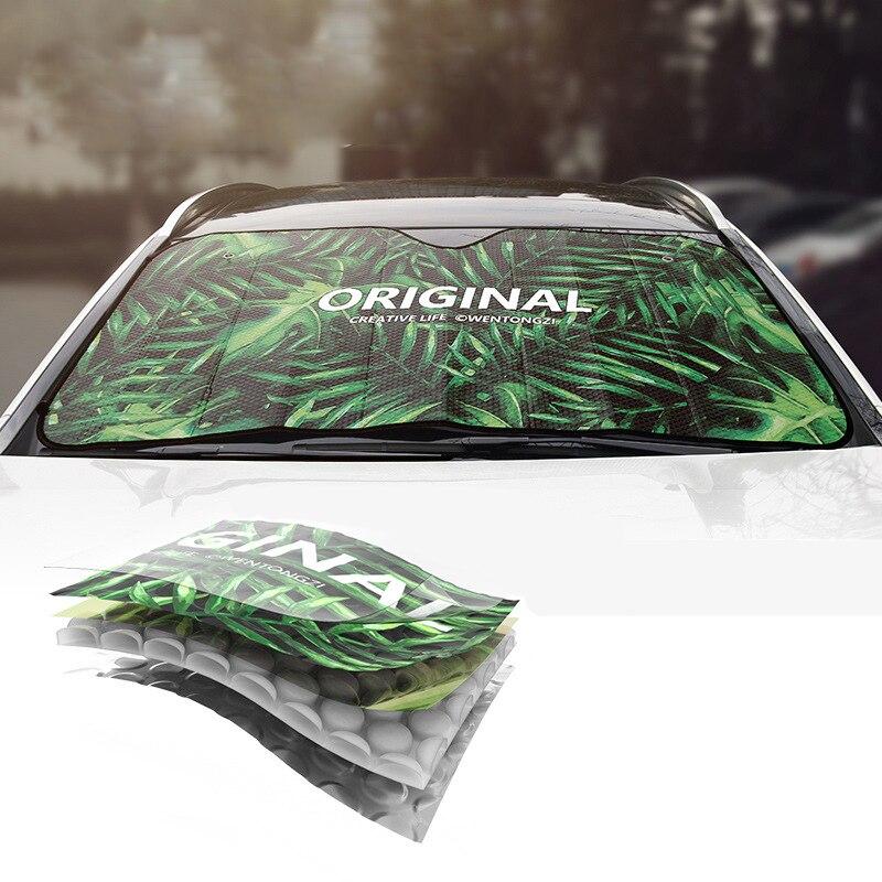 Universal Car Windshield Sunshades Auto Sun Protection Car Windscreen Shade Front Window Cover Aluminum Foil Shade Blind Anti UV