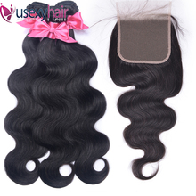 Body Wave Bundles With Closure Brazilian Hair Weave 3 Bundles With 4x4 5x5 6x6 Lace Closure Remy Human Hair Bundles With Closure