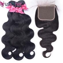 Doczepy typu body wave z zamknięciem brazylijski włosy wyplata 3 wiązki z 4x4 5x5 6x6 zamknięcie koronki Remy wiązki ludzkich włosów z zamknięciem