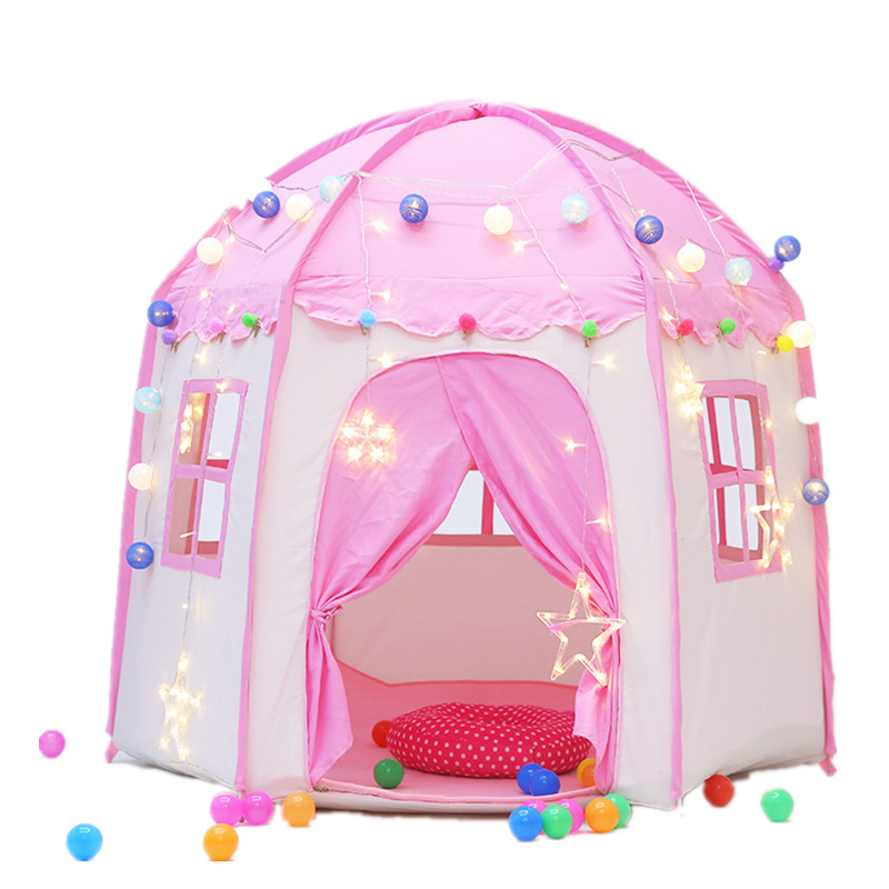 Play House Game Tent Toys Ball Pit Pool Portable Foldable Princess Folding Tent Castle Gifts Tents Toy For Kids Girl Gifts