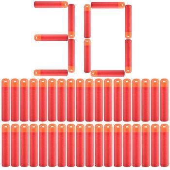 30 sztuk partia 9 5cm czerwony karabin snajperski rzutki kule dla Nerf Mega dzieci zabawki pianki strzałki z możliwością napełnienia Big Hole głowy kule Christmas Gift tanie i dobre opinie Rowsfire none Unisex 3 lat 2463580 Zabawki karabin maszynowy Diecast