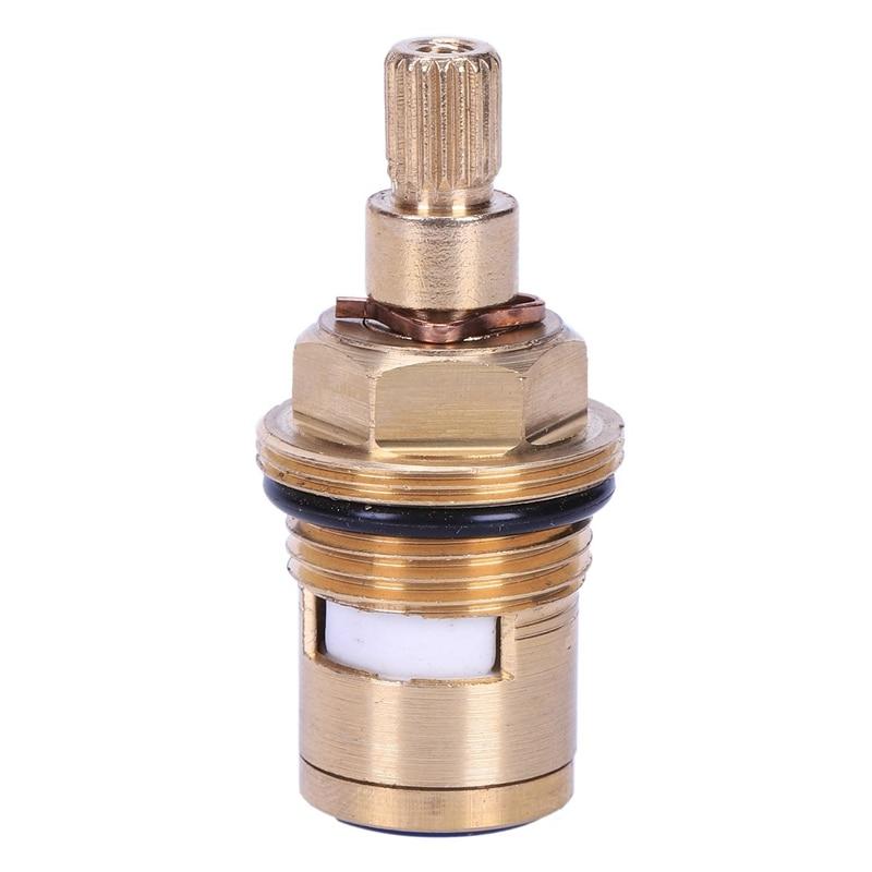 BMBY-1 Pcs Replacement Brass Ceramic Disc Tap Valve Insert Gland Cartridge Quarter Turn
