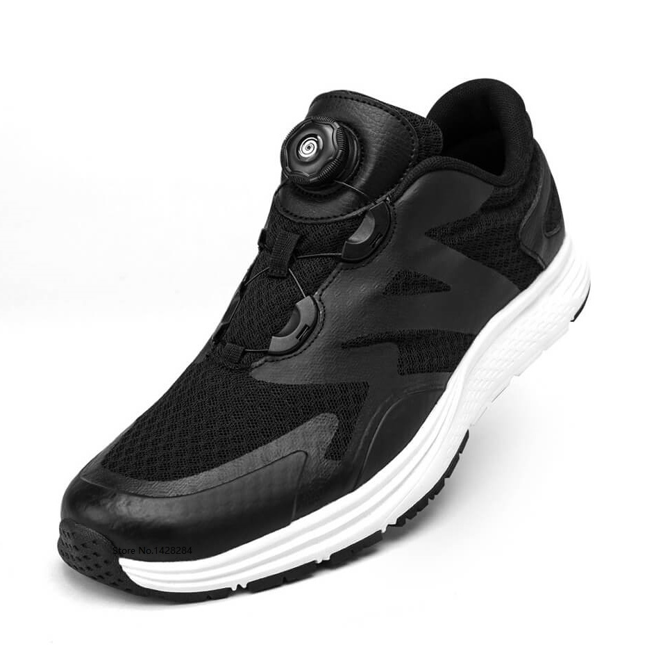New Yuncoo men woman spin buckle Sports shoes Comfortable rebound Lightweight running Outdoor fitness male female sneakers-in Shoe Covers from Home & Garden    1