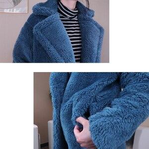 Image 5 - 2020 Winter Faux Fur Teddy Coat Women High Street Oversized Teddy Jackets And Coats Ladies Outwear Parka Warm Shaggy Coat