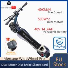 Patinete eléctrico inteligente Mercane WideWheel Pro Kickscooter, Scooter de 48V y 2021 W, con rueda ancha y freno de disco de doble Motor, novedad de 1000