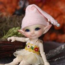 Бесплатная доставка, Сказочная кукла Realpuki Pupu BJD 1/13, розовая улыбка, игрушки Elves