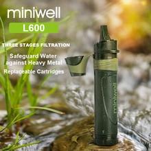 Miniwell açık survival dişli taşınabilir su filtresi