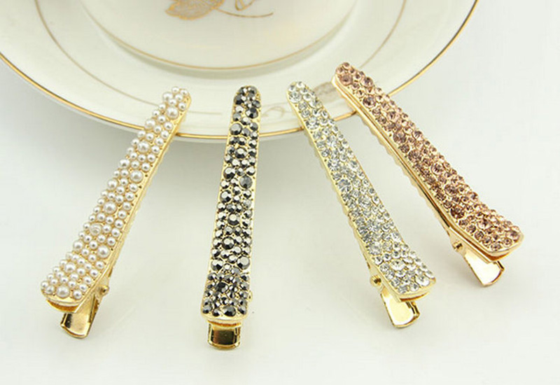 1PC Fashion Han Edition Diamond Women Hair Grips Sweet Series Pearl Head Wear Hair Accessories