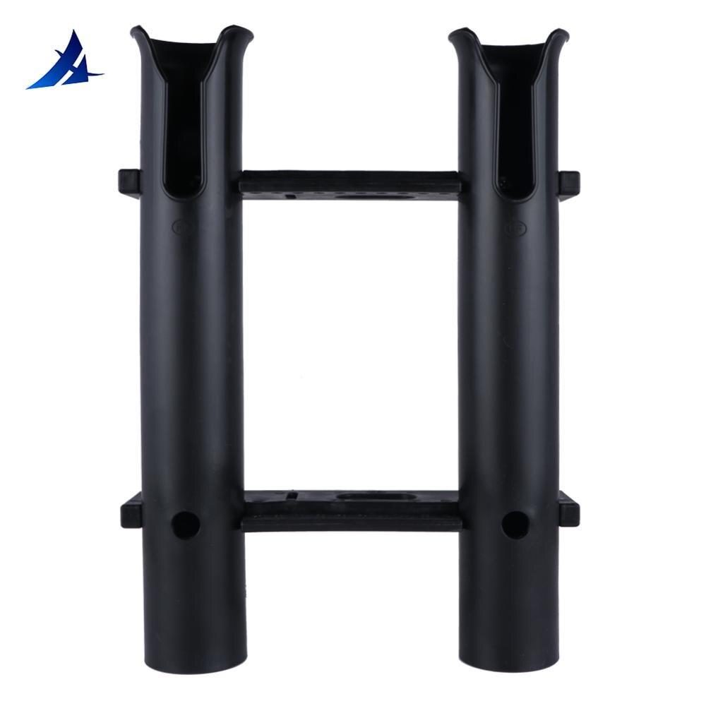 suporte de vara de desmontagem rapida 2 orificios preto anticorrosivo portatil suporte de cabine acessorios para