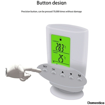 1pcs Programmable Wireless Thermostat Socket White LCD Home Intelligent Temperature Control Socket EU/US/UK Plug