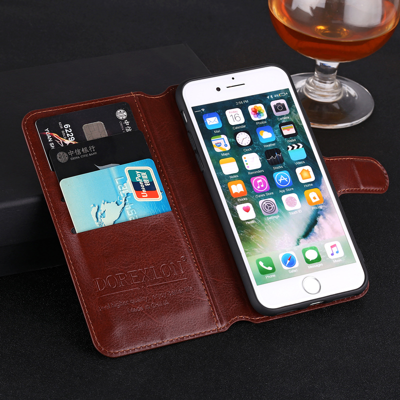 Luxury Wallet Leather Flip Case for <font><b>Sony</b></font> <font><b>Xperia</b></font> <font><b>E3</b></font> <font><b>D2203</b></font> D2206 D2243 D2202 D2212 Phone Back Cover Printing Case With Card Slots image