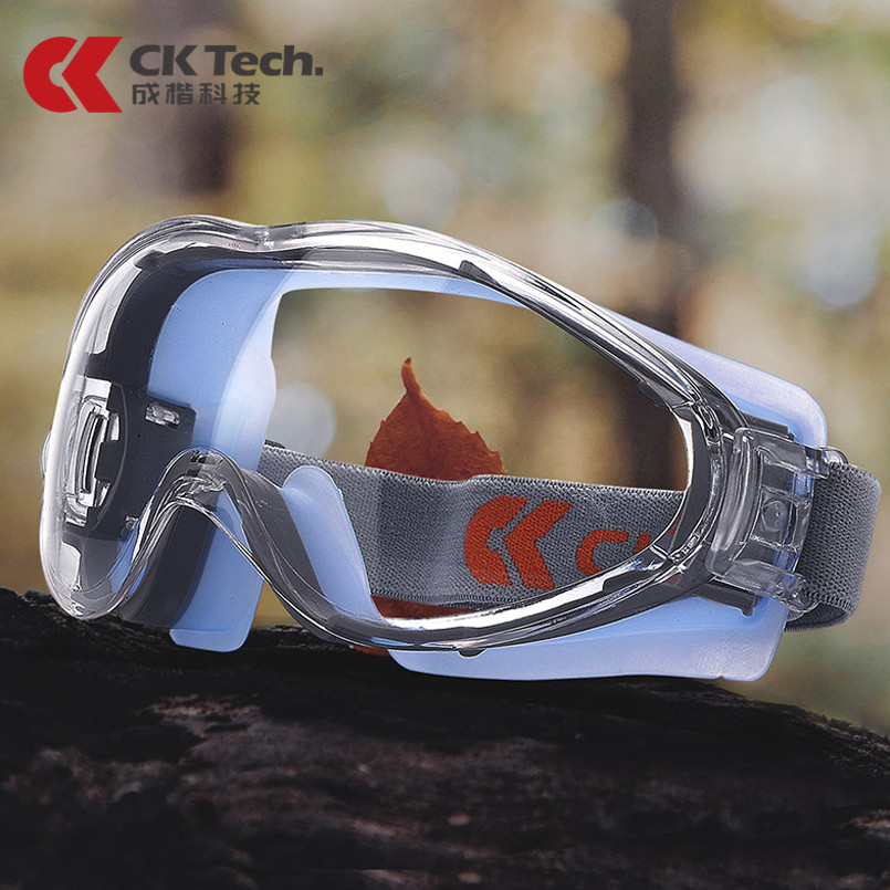 CK Tech.Transparent Safety Glasses Protective Goggles Anti-Splash Wind-Proof Anti-fog For Cycling Riding Eye Protection Silicone