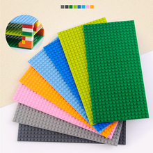 16*32 Dots Base Plate For Small Bricks Baseplate Board City DIY Building Blocks Set Parts Educational Toys For Children Gifts marumine plate 8 x 16 boys and girls toys compatible building blocks set base plate diy classic educational bricks