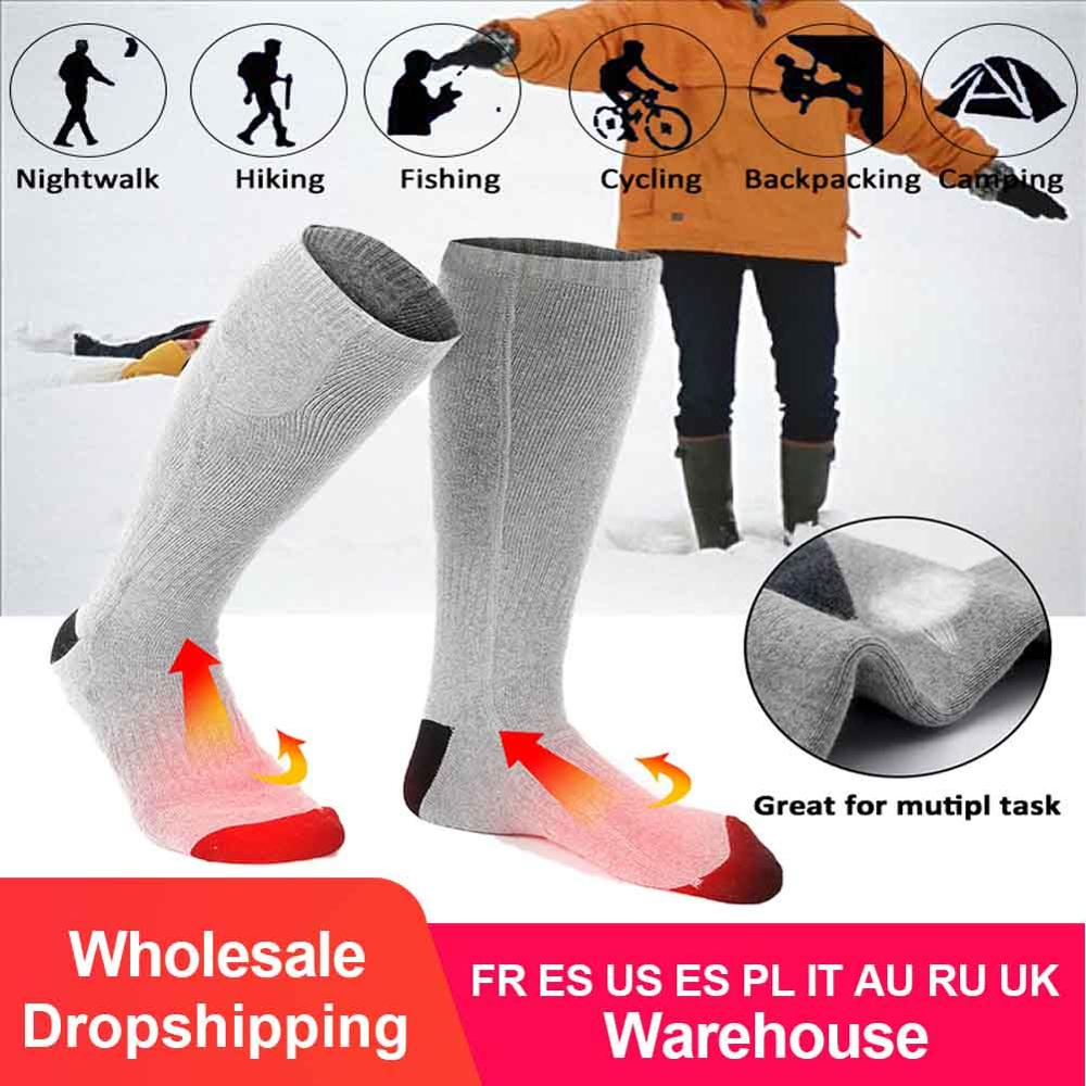 Heated-Socks Rechargeable-Battery Electric Large-Size Cold-Feet with for Chronically title=
