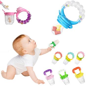 Silikonowe smoczki dla niemowląt świeże jedzenie Nibbler smoczki podajnik dla dzieci karmienie owoców sutek bezpieczne dostawy smoczek smoczek smoczek butelki tanie i dobre opinie 3-6 miesięcy Stałe 1 PCS Pojedyncze załadowany Nitrosamine darmo