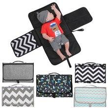 Cambiador de pañales impermeable 3 en 1, esterilla para cubrir, portátil y multifunción, para viajes, bolsa de pañales manual, de plegado limpio